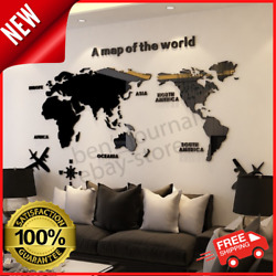 OriginalWorld Map Acrylic 3D Wall Sticker Decal Bedroom Living Room Modern Decor $25.99