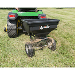 Tow Behind Grass Seed Salt Broadcast Lawn Fertilizer Spreader Pull Rustproof $88.62