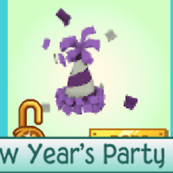 Animal Jam Purple Party Hat QUICK DELIVERY Rare Description $8.99