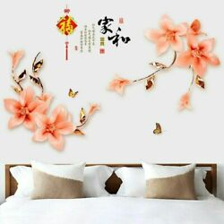 Fashion Wall Stickers Flower Living Room Bedroom Home Wall Decorations Mural $9.59
