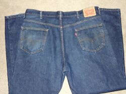 LEVI LEVIS 550 RELAXED FIT MEN#x27;S JEANS SIZE 42 X 32 RED TAB $12.99