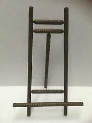 Vintage WOODEN EASEL Photo Art Picture Stand Spiral Lathe $24.99