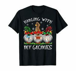 Hanging With My Gnomies Christmas 2020 Gnome Wearing Mask T shirt size S 5XL $13.99