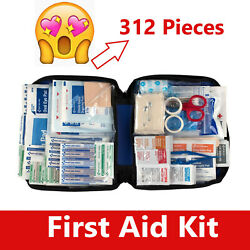 312 pc First Aid Kit Emergency Bag Home Car Outdoor All Purpose Kit Portable $29.99
