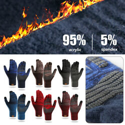 Winter Warm Gloves Touch Screen Mittens Thermal Glove Cashmere Knitted Gloves C $13.66