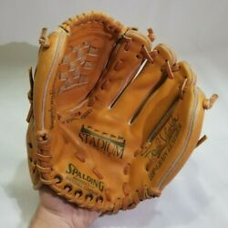 Used Spalding Baseball Mitt Glove Right Hand Thrower Top Grain Leather $12.95