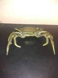Vintage Brass Crab Ashtray Trinket Box  $25.00