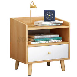 Modern Nightstand Bedside End Wooden Table Bedroom Living Room Storage Cabinet $38.99