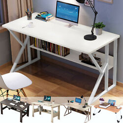 Computer Desk Table Workstation Home Office Student Dorm Laptop Study w Shelf LY $71.99