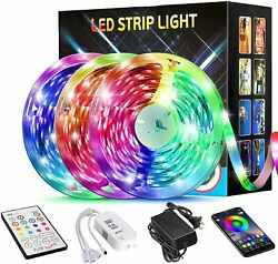 50FT 15M LED Strip Lights Tenmiro Smart Led Lights Strip SMD5050 Music Sync Col