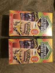 2 x Pokemon Mystery Power Box 5 Booster Packs Vintage Packs 1:5 FACTORY SEALED $114.99