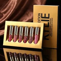 Kylie Jenner Birthday Holiday Edition Matte BNIB Lipstick Set 6 Pcs Gift Set