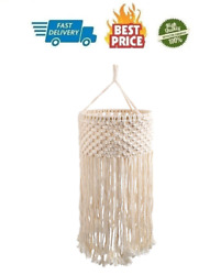 Topotdor Macrame Lamp Shades Ceiling Pendant Light Shade Tasseled Chandelier $52.99