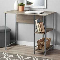 Mainstays Student Desk Silver And Oak $67.99