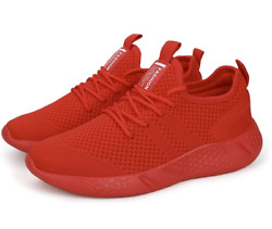 Mens Red Sport Gym Running Shoes Walking Shoes Casual Lace Up Lightweight 2 Pair $100.00