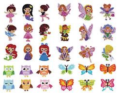 5D Diamond Painting Stickers Kits for Kids DIY Art Craft Animal Painting with $10.06