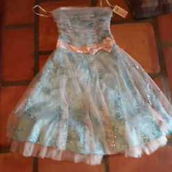 light blue HOMECOMING PARTY FORMAL DRESS BEE DARLIN SIZE 3 4 new $22.00