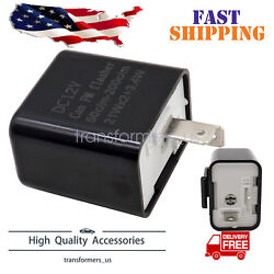 2Pin Adjustable LED Flasher Relay Turn Signal Blinker Light For Motorcycle 12V $4.99