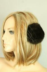 Vtg Sable Brown Genuine Mink Fur Earmuffs Winter Hat $35.00