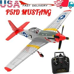 6 Axies Gyroamp;Rear P51D 4CH RC plane Pusher R C Glider Brushless Drone RTF Toy $125.99