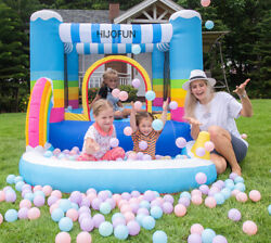 Inflatable Bounce House Bouncer Castle Jumper Playhouse Kids Jumping Pool Gift $235.00