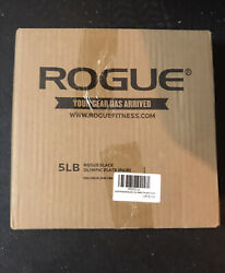 *NEW* Rogue Fitness 5 LB Pounds Standard Barbell Olympic Weight Plates Pair $50.00