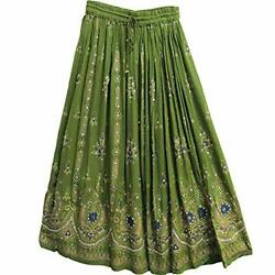 Womens Skirts Ankle Length with Sequins Hippy Gypsy Bohemian Ankel Length Skirt $11.98