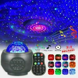 LED Galaxy Starry Night Light Projector Ocean Sky Star Party Speaker Dance Lamp $29.98
