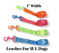 Dog Leashes Assorted Neon Colors 4Ft Long $6.99