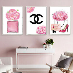 Fashion Print Makeup Canvas Painting Beauty Girls Lady Girls Room Wall Art Decor $10.99
