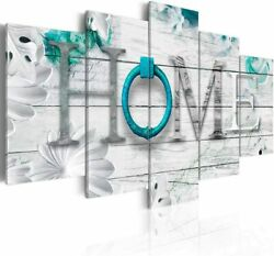 Dreamy Home 5 Panels Turquoise Canvas Print Painting Modern Wall Art Decorati. $49.99