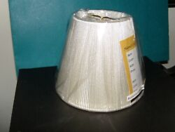 NEW chandelier mini lamp shade clip on empire silk string off white 4quot; tallbulb $7.99