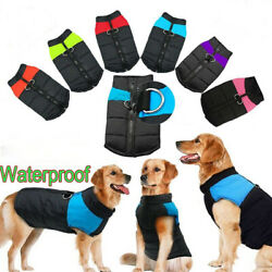 Large Pet Dog Clothes Jacket Harness Winter Warm Dog Waterproof Coat Outfits US $14.99