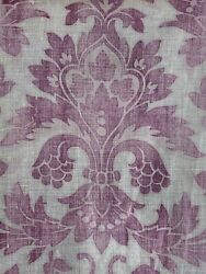 Arts and Crafts French antique fabric cotton FADED antique material $82.00