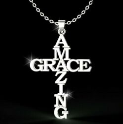 Amazing Grace Cross Necklace $19.99