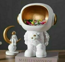 Nordic Creative Astronaut Sculpture 20x26cm Resin Ornament Modern Decor Figurine $39.59