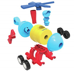 Learning Resources 1 2 3 Build It Rocket Train Helicopter Toddler Building Toy $28.82