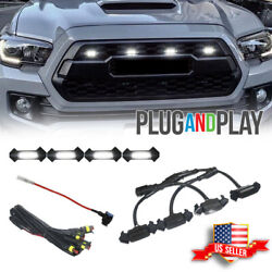 4X Raptor Style White LED Lamps Front Grill Lights Kit For 2016 up Toyota Tacoma $19.99