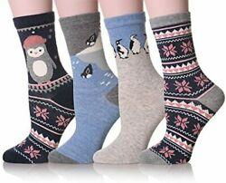 4 PAIR Dosoni Girl Women Novelty Animal Lovely Cute Socks Shoe Size 5 9 $14.99