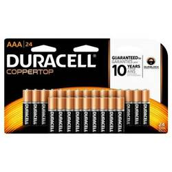 Duracell® Coppertop AAA Alkaline Batteries Pack Of 24 NEW Factory Sealed $13.99