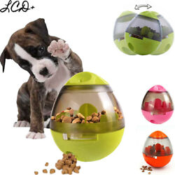 Automatic Pet Feeder Dog Cat Food Dispenser Tumbler Bowl Interactive Ball Toy US $8.99