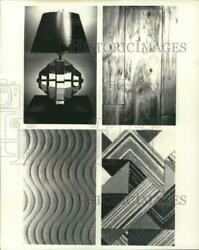 1977 Press Photo Contemporary lamp by Eric Mulvany amp; various interior designs $19.88
