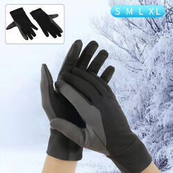 Warm Mens Winter Gloves Leather Motorcycle Full Finger Touch Screen Warm Gloves $10.99