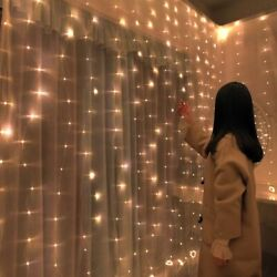 🎄 Christmas Decorations for Home LED Curtain String Light Fairy Garland 3x2 m