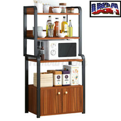 5 Tiers Wood Microwave Oven Shelf Rack Cabinet Home Kitchen Storage Baker A $36.56