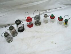 Lot 9 Vintage Skater#x27;s Lantern Candy Containers Oil Lamp Light Stough $159.99