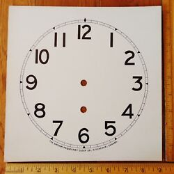 Original Arthur Pequegnat Clock Dial for Preston amp; Ideal Arabic Antique Parts C $49.99