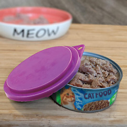 Pet Food Can Covers Top 3 1 2 Inch Dogs Cats Pets Pan Lids Seals Treat Set Of 3 $2.51