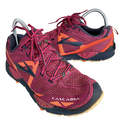 Brooks Cascadia 9 Womens Size 9 Purple Black Hiking Running Shoes Sneakers $46.95