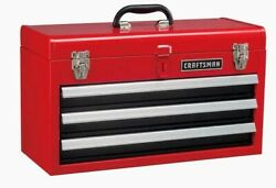 CRAFTSMAN Portable Tool Box 20.5 in Ball bearing 3 Drawer Red Steel and Lockable $75.00